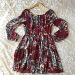 Soieblu fall floral dress size S